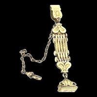 Edwardian 9CT Gold Link Pocket Watch Fob Seal Excellent c.1900