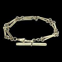 Edwardian Rolled Gold Hallmarked Bracelet Traditional Dog Clip T Bar Clasp