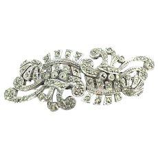 Art Deco Style Marcasite Shoe Dress Clip Brooch Pin Stunning