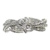 Art Deco Style Marcasite Shoe Dress Clip Brooch Pin Stunning Versatile