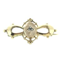 Art Nouveau French Brooch Pin Gold Plated Lovely