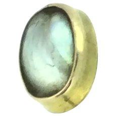 Edwardian Gold 14CT Bezel Blister Mother of Pearl Stick Pin Cravat