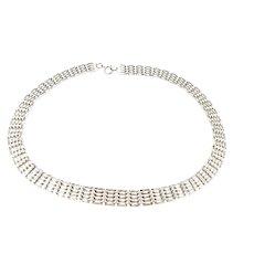 Vintage Fancy Gate Solid Silver 925 Fully hallmarked Necklace Choker Elegance