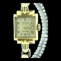 1950 Wristwatch Mechanical Wind up Working Condition Ancre 15 Rubies