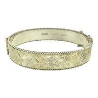 Fine Sterling Bracelet Bangle Fully Hallmarked Silver 925 Fully Embossed
