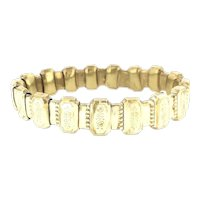 Embossed Articulated Bracelet Gold Filled Victorian Style Beauty