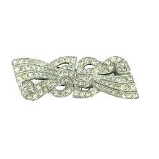 Art Deco Paste Double Shoe Dress Clip Brooch Versatile Jewellery