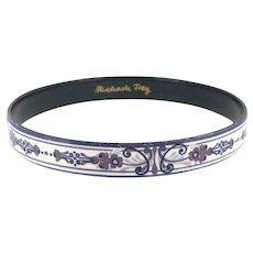 Vintage Michaela Frey Enamelled Bracelet Bangle Stunning