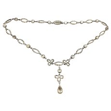 Georgian Silver Paste Necklace Regal Beauty C.1800