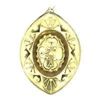 Etruscan Revival Gold 15K Kite Hallmark Aesthetic Locket Pendant C.1800