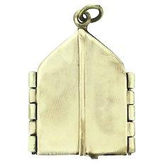 Rolled Gold Hinged Door Religious Locket Pendant