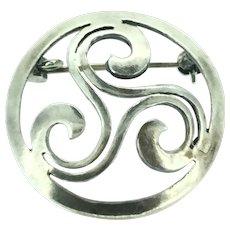 Modernist Sterling Hallmarked 925 Brooch Pin