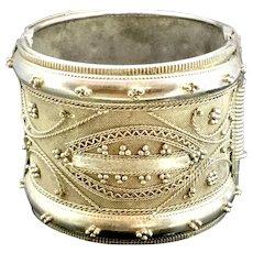 Georgian Estate Bracelet Bangle Hinged Aesthetic White Metal c1800