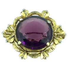 Vintage Glass Brooch Pin Costume In excellent Condition c.1950