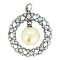 Edwardian Paste Cultured Pearl Pendant