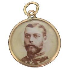 Victorian Locket Pendant Charm Small Double Glazed 9CT