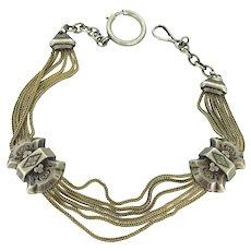 Georgian Gilt Watch Double Slider Chain Choker Bracelet c.1800