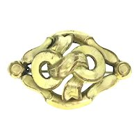 Art Nouveau Gold Filled Brooch Pin c.1895