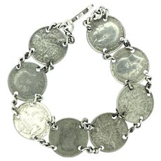 1920/1940 George V Three Pence Coins Bracelet Collectable