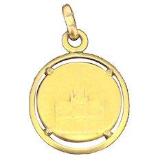 Art Nouveau Gold Filled Fix St Anne D Auray Pendant Charm