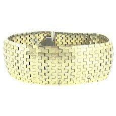Heavy 18K 750 Gold Plated Hallmarked Articulated Bracelet c.1940