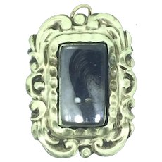 Victorian Mourning Hair Gold Filled Pendant c.1890