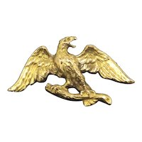 Art Nouveau Eagle Rolled Gold 14CT Fix French Brooch c.1895