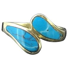Silver 925 Matrix Turquoise Ring