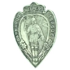 St. Barnardos Helpers League for God and Country Badge Brooch Pin Costume