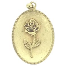 French Rose Gold Plated Magnet Pendant High Relief C.1930