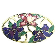 Enamelled Costume Branded Brooch Pin Very Beautiful