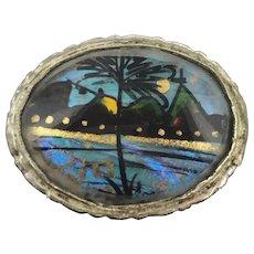Butterfly Wings Brazilian Brooch Pin Souvenir From Rio de Janeiro