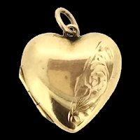 Edwardian 9CT Pendant Locket Hallmarked Heart c.1910