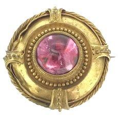 Georgian Pinchbeck Paste Locket Brooch Pendant C.1840