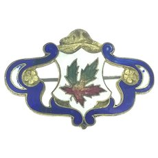 Collectable Enamelled Brooch Pin Canada Maple Leaf