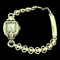 Vintage Mechanical Wristwatch 17 Jewels RG Working Condition c.1950s