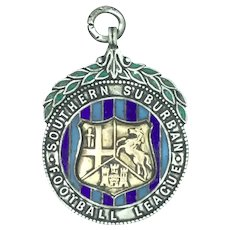 Silver Enamel 1908/9 Collectable Pendant Football League