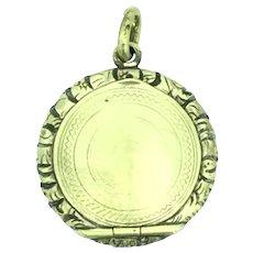 Edwardian Aesthetic Locket Pendant Gold Filled Small Mourning Hair 1901/10