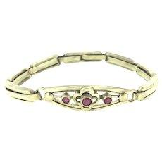Retro Gold Filled Stretchable Paste Bracelet Circa 1940