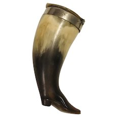 Carved Horn Snuff Boot