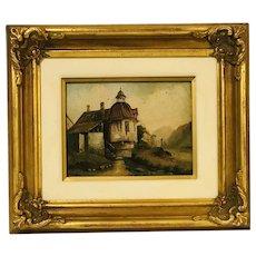 Scottish oil painting German scene