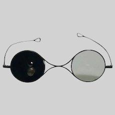 Steel Shooting Spectacles Vulcanite Disc