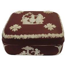 Wedgwood Crimson Jasperware Box