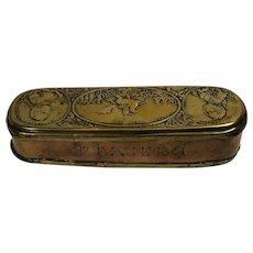 18thc Copper Brass Prussian Tobacco Box