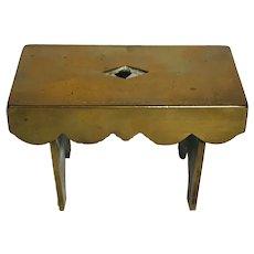 Brass Miniature Salesman Sample Bench