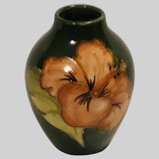 Moorcroft Miniature Hibiscus Bud Vase Paper Label