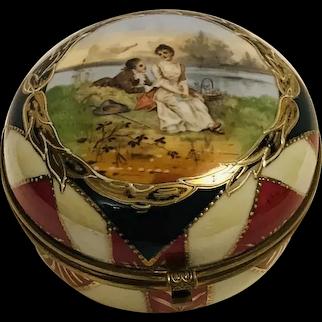 Austrian Hand Painted Porcelain Trinket Box