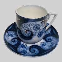 Persian Scroll German Cup and Saucer