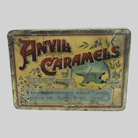 Candy Tin Anvil Caramels Advertising