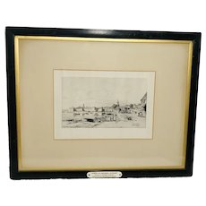 French Etching Maxime Lalanne